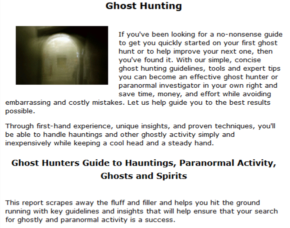 Ghost Hunters Guide to Hauntings, Paranormal Activity, Ghosts and Spirits