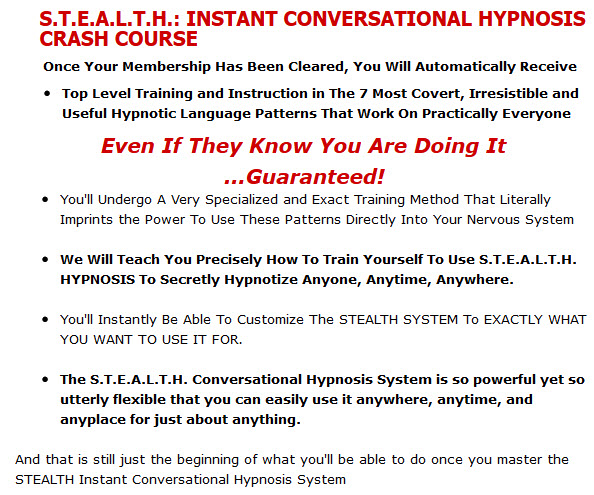How To Train Yourself To Use S.T.E.A.L.T.H. HYPNOSIS To Secretly Hypnotize Anyone, Anytime, Anywhere