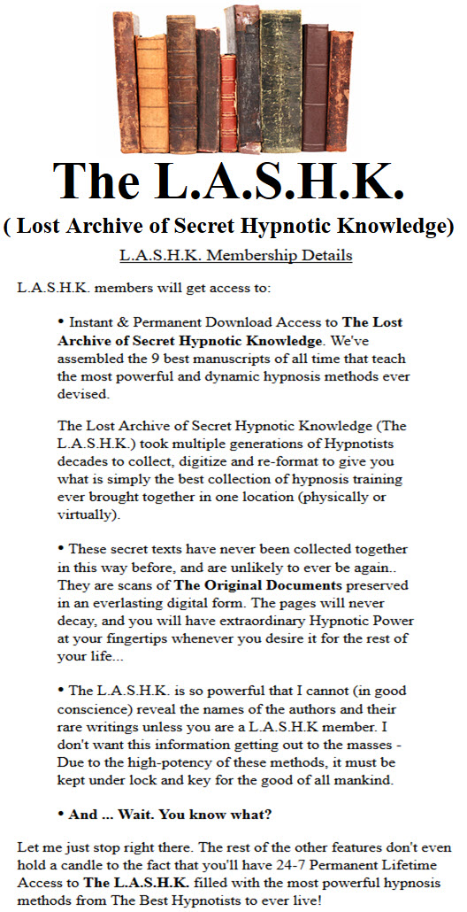 Instant & Permanent Download Access to The Lost Archive of Secret Hypnotic Knowledge