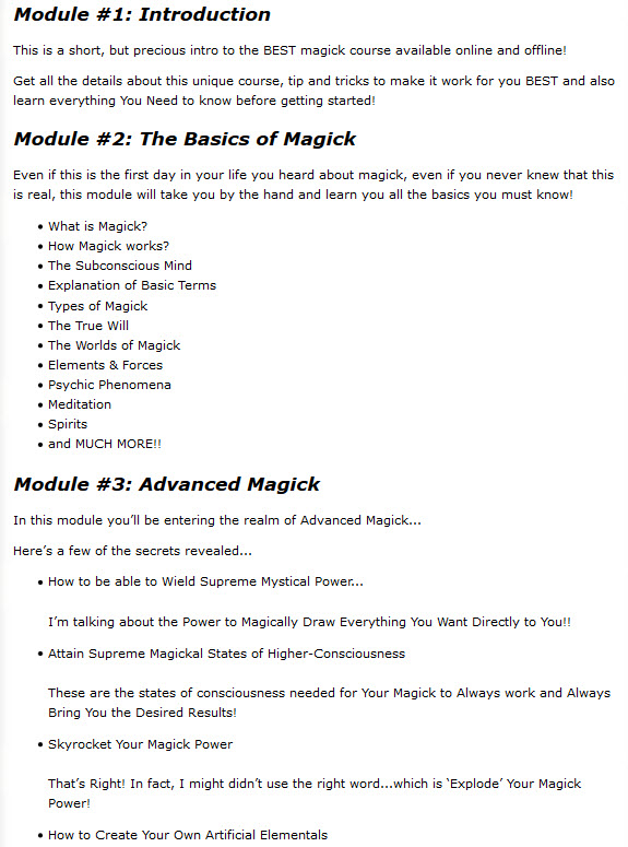 Magickal Powers. Spells Get Magick Power