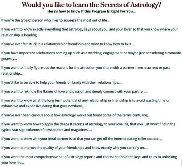 Would you like to learn the Secrets of Astrology?