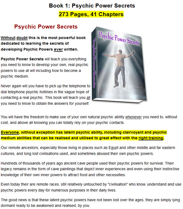 most powerful book dedicated to learning the secrets of developing Psychic Powers