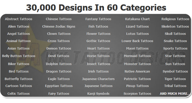 30,000 Designs In 60 Categories
