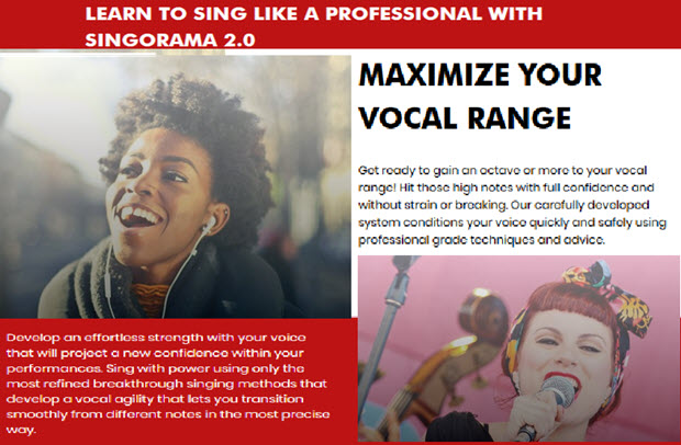 LEARN TO SING LIKE A PROFESSIONAL WITH SINGORAMA 2.0