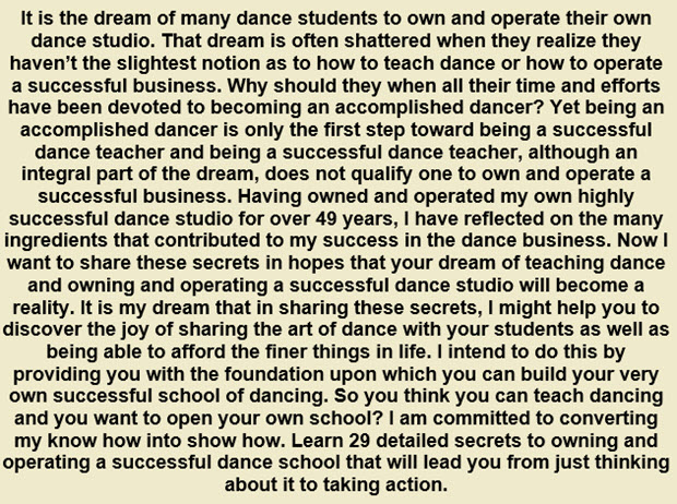 SUCCESSFUL SCHOOL OF DANCE