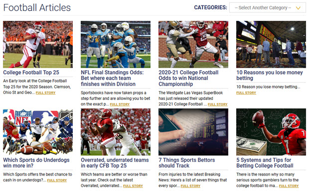 Football Articles Categories: