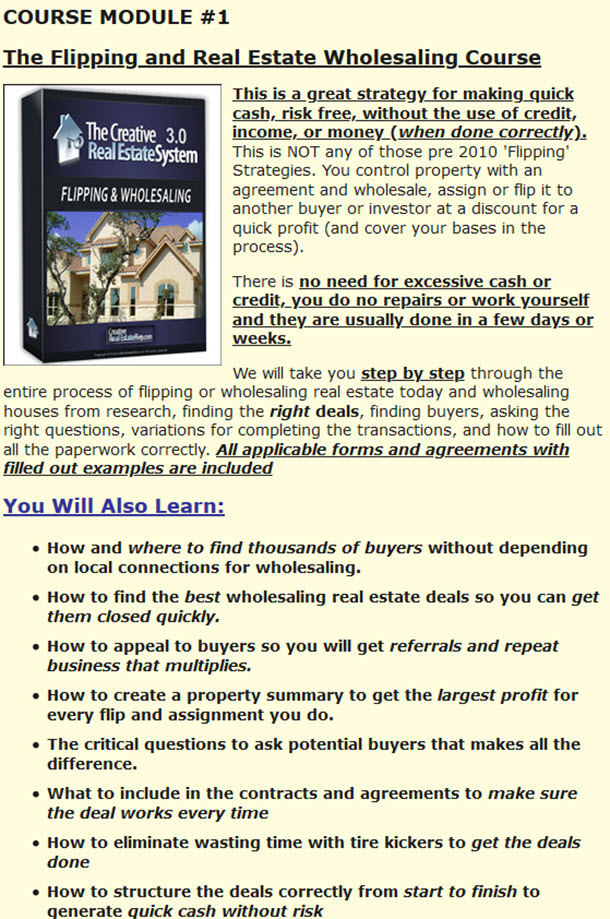Real Estate Wholesaling Course