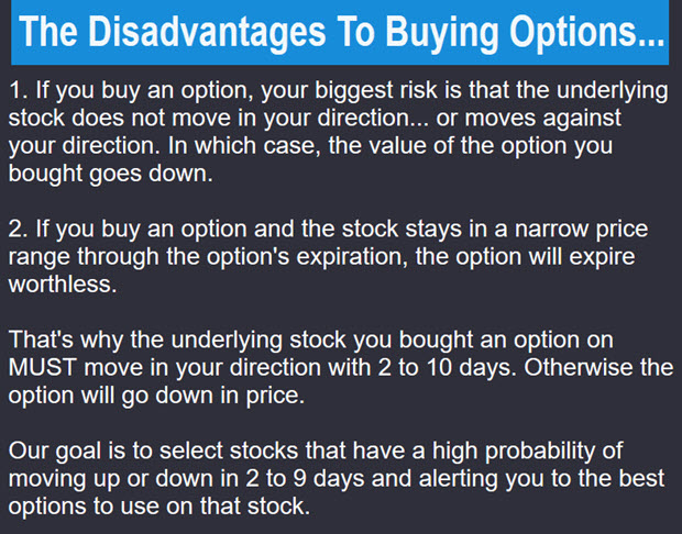 The Disadvantages To Buying Options