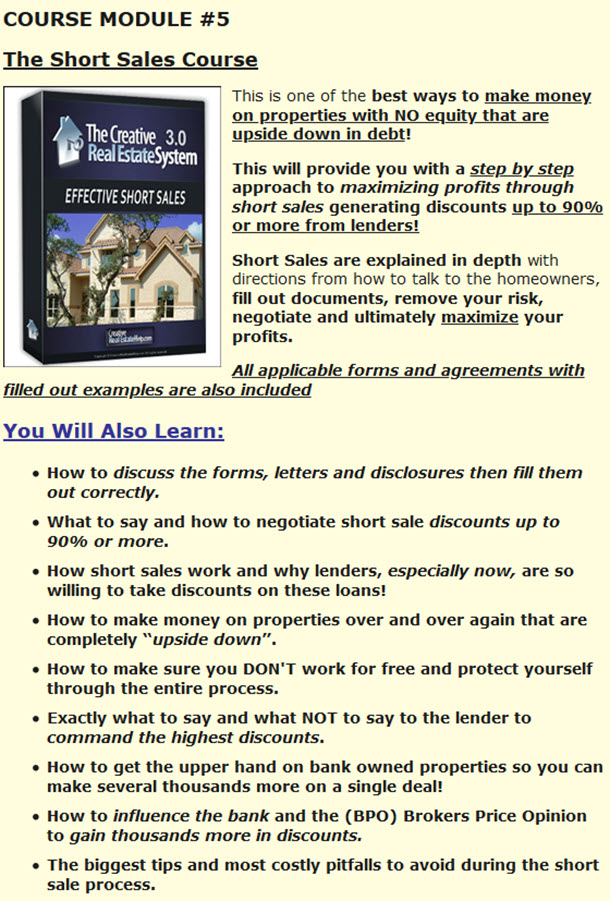 The Short Sales Course