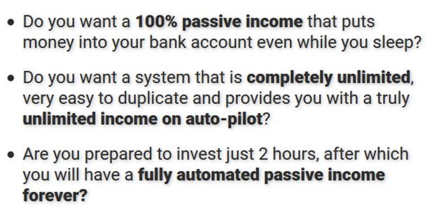 Fully-Automated, 100% Passive Income