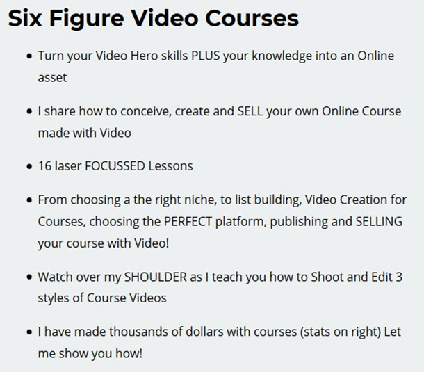 Six Figure Video Courses