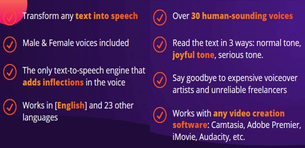 Transform any text into speech