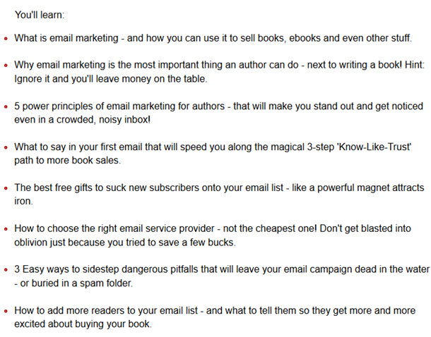 email marketing sell ebook