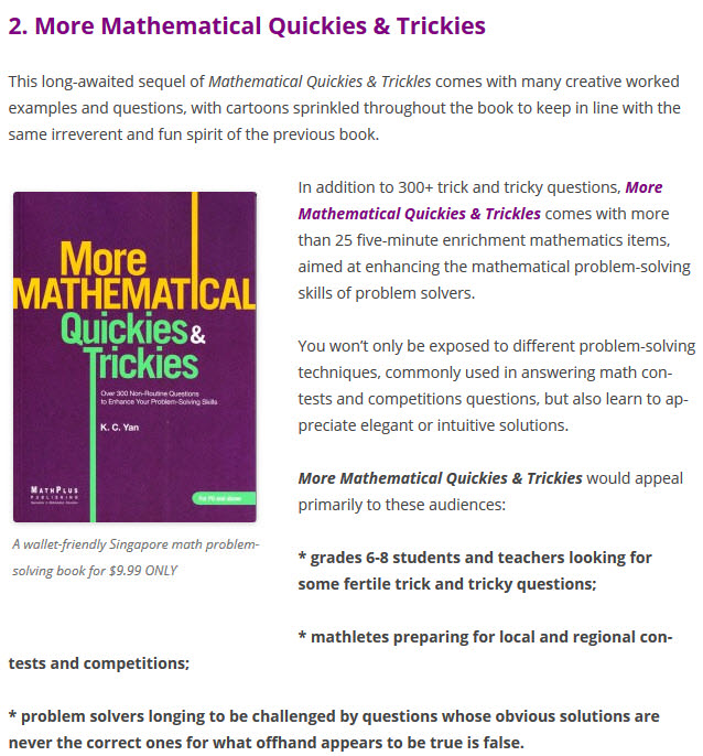 Mathematical Quickies & Trickies