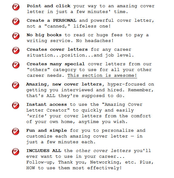 The Amazing Cover Letter Creator