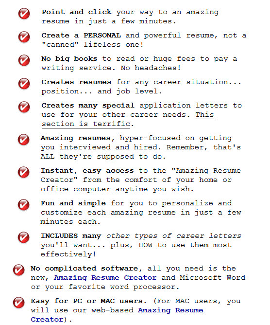 The Amazing Resume Creator Today