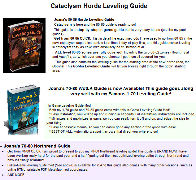 Cataclysm Horde Leveling Guide