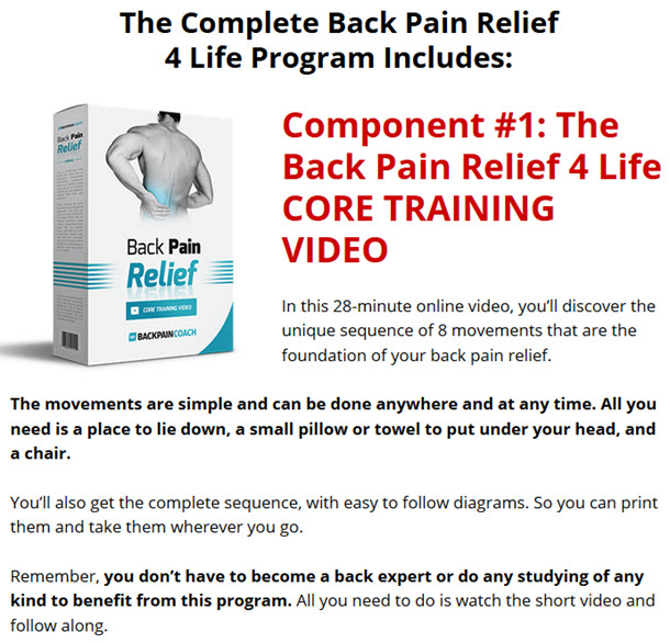 Back Pain Relief 4 Life CORE TRAINING VIDEO