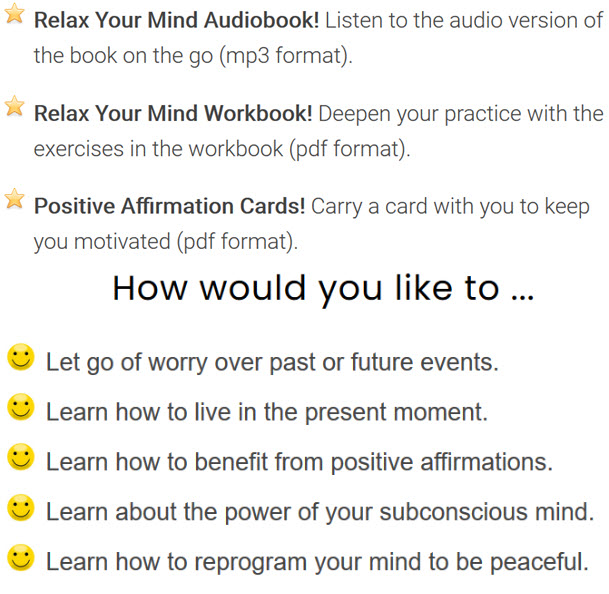 Relax Your Mind Workbook