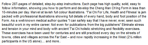 T'AI CHI FOR LIFE, HEALTH AND FITNESS