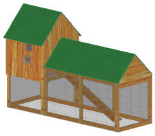 Double story chicken house