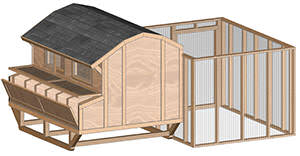 portable barn style chicken house