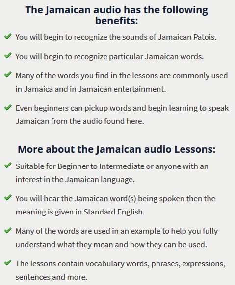 Jamaican audio lessons