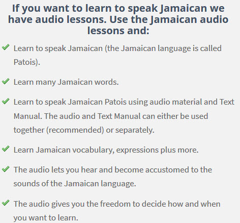 learn to speak Jamaican