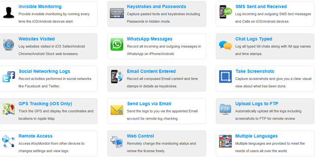 ... Phone Spy App Keylogger iPhone, iPad, Android - iPhone Spy - Android