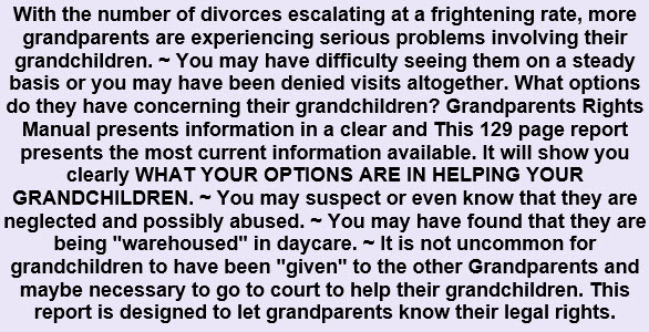 Grandparents Rights For Custody
