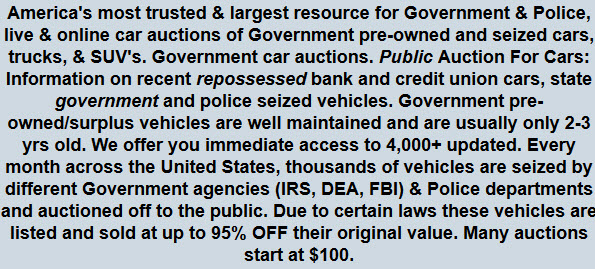 Government Car Auctions