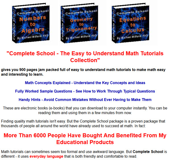 The Easy to Understand Math Tutorials Collection Tutorial