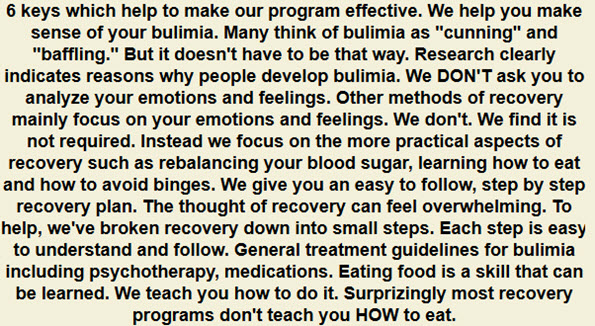 Online Bulimia Treatment & Recovery Program