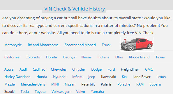 completely free VIN Check