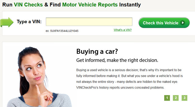 Vehicle history reports and alternative to carfax and for Motor vehicle records check